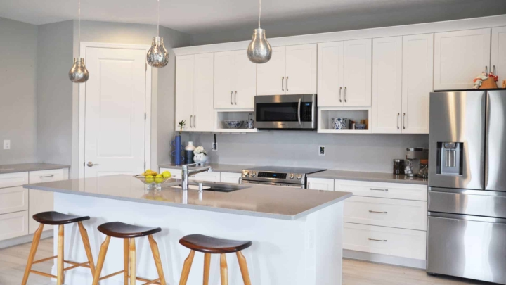 """better kitchen design & cabinets that replaced Richmond American """"free kitchen"""" ... had to be reflected in home value when buying homeowners insurance"""