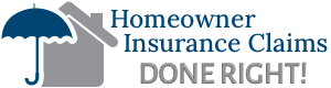 Homeowner Insurance Claims Logo with umbrella